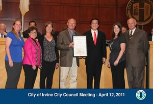 Irvine City Mayor Gives Proclamation to Irvine Children's Fund for Week of the Young Child